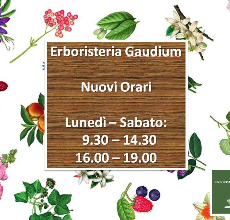 nuovo orario erboristeria gaudium milano